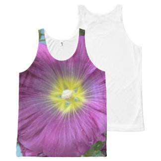 Pretty Pink Flower Photo Unisex Vest All-Over Print Tank Top