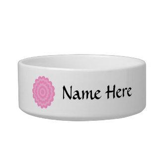 Pretty pink flower. White Background. Bowl