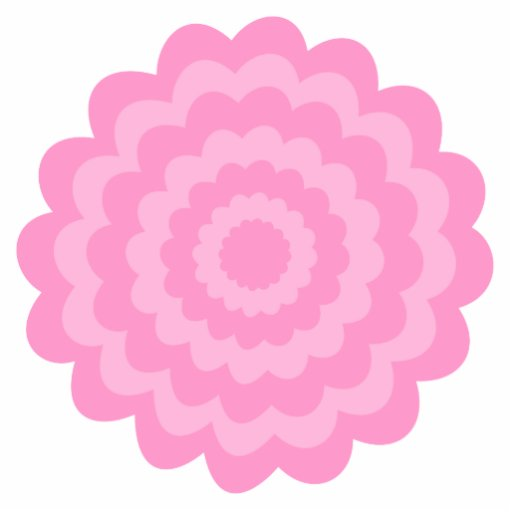 Pretty pink flower. White Background. Cut Outs