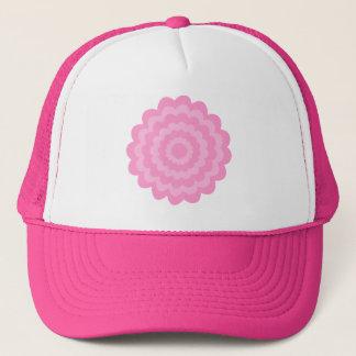 Pretty pink flower. White Background. Trucker Hat