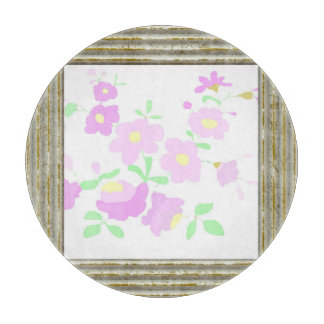 Pretty Pink Flowers Cutting Board
