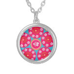 Pretty pink flowers flowers necklace
