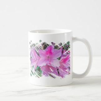 Pretty Pink Flowers in the Sun Basic White Mug