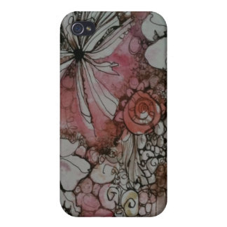Pretty pink flowers iPhone 4/4S hard case Case For iPhone 4