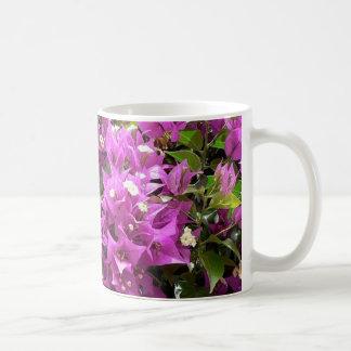 Pretty Pink Flowers Basic White Mug