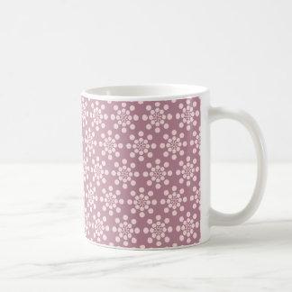 Pretty Pink Flowers Pattern Basic White Mug