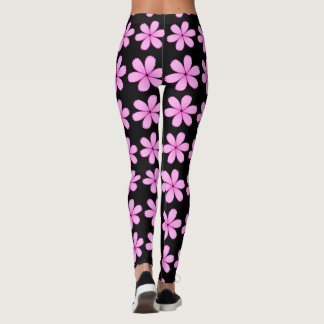 Pretty Pink Flowers You Pick The Color Leggings