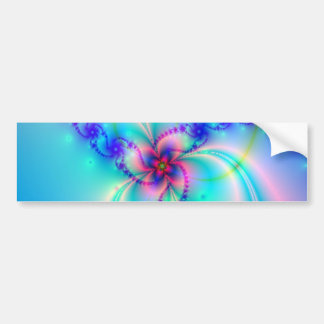 Pretty Pink Fractal Flower Bumper Sticker