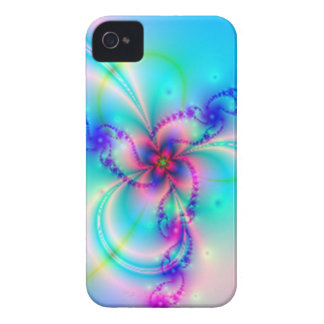 Pretty Pink Fractal Flower iPhone 4 Covers