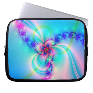 Pretty Pink Fractal Flower Laptop Sleeve