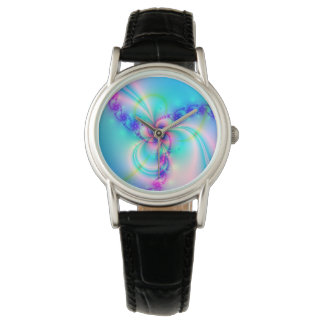 Pretty Pink Fractal Flower Watch