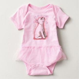 Pretty pink French Bulldog baby bodysuit