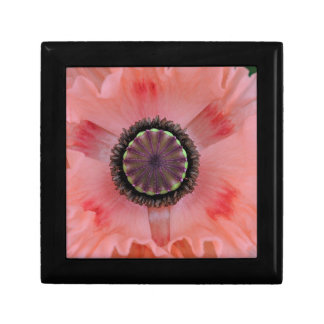 Pretty pink frilled Poppy Small Square Gift Box