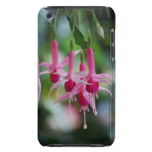 Pretty Pink Fuchsia Flowers iPod Case-Mate Cases