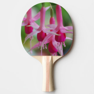 Pretty Pink Fuchsia Flowers Ping Pong Paddle