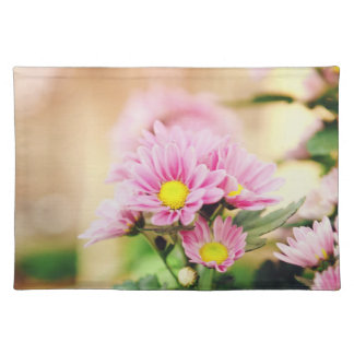 Pretty pink garden flowers place mats