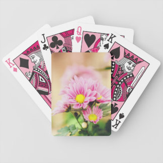 Pretty pink garden flowers playing cards