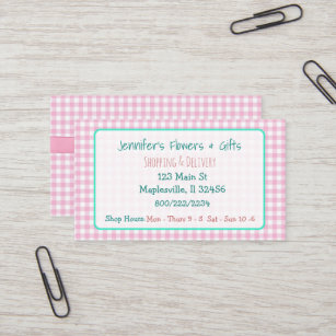 Bow business cards business card printing zazzle uk pretty pink gingham bow business card colourmoves