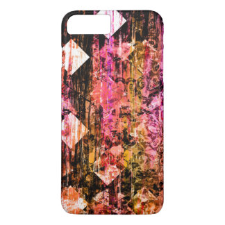 Pretty Pink Girly Grunge Floral Diamond iPhone 7 Plus Case