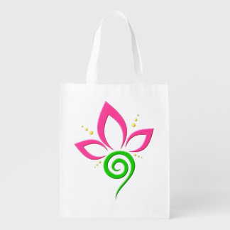 Pretty Pink Green and Yellow Floral Icon Design