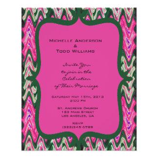 Pretty Pink Green Modern Wedding 11.5 Cm X 14 Cm Flyer