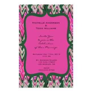 Pretty Pink Green Modern Wedding 14 Cm X 21.5 Cm Flyer