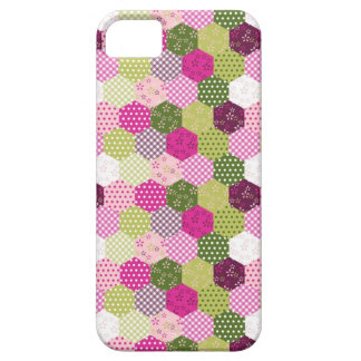 Pretty Pink Green Mulberry Patchwork Quilt Design iPhone 5 Case