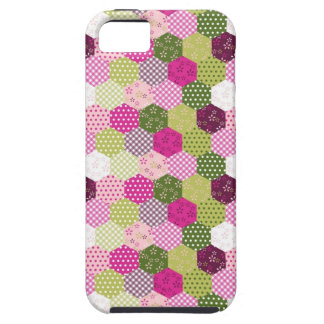 Pretty Pink Green Mulberry Patchwork Quilt Design iPhone 5 Cases