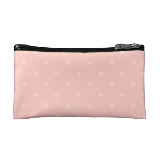 Pretty Pink Heart Cosmetic Bag