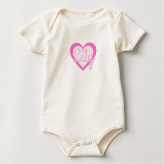 Pretty Pink Heart Customisable Baby Vest Baby Bodysuit