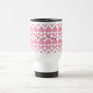 Pretty Pink Heart Home & Kitchen Gifts Stainless Steel Travel Mug