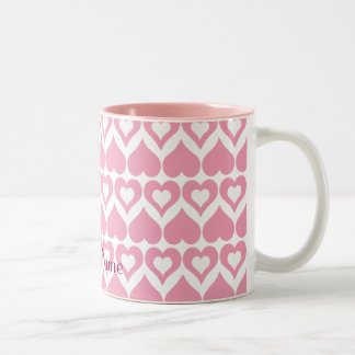 Pretty Pink Heart Home & Kitchen Gifts Two-Tone Mug