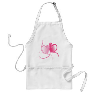 Pretty Pink Hearts Aprons