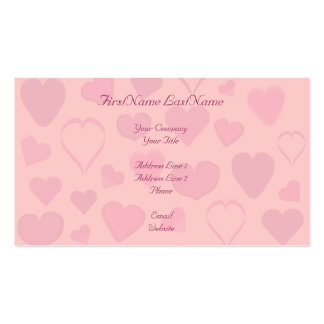Pretty Pink Hearts Design Business Cards