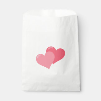 Pretty Pink Hearts Favour Bags
