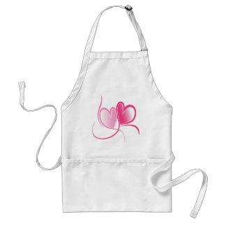 Pretty Pink Hearts Standard Apron