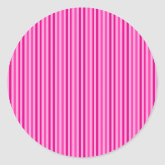 Pretty Pink Horizontal Stripes Round Sticker
