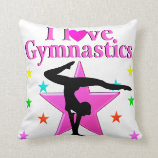PRETTY PINK I LOVE GYMNASTICS DESIGN CUSHION