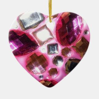 Pretty Pink Jewel Bling Ornament