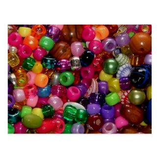 Pretty Pink Jewelry Beads Postcard