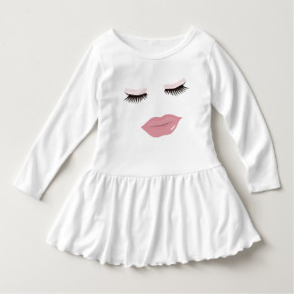 Pretty Pink Lip's Toddler Ruffle Dress