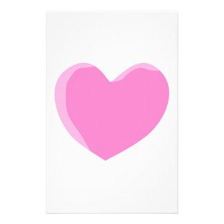 Pretty Pink Love Heart. 14 Cm X 21.5 Cm Flyer
