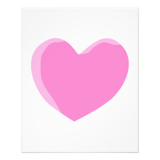Pretty Pink Love Heart. Full Color Flyer