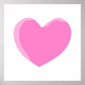 Pretty Pink Love Heart Print