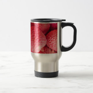 Pretty Pink Lychee Fruit Pattern Stainless Steel Travel Mug