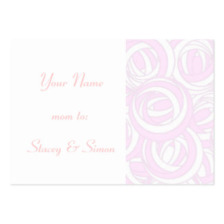 Pretty Pink Mommy Calling Card, Art Nouveau Roses Business Card Templates