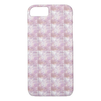 Pretty Pink Mother of Pearl Tile Effect iPhone 8/7 Case