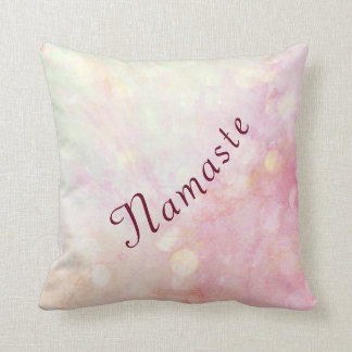 Pretty Pink Namaste design Cushion