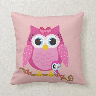 Pretty Pink owl Cushion