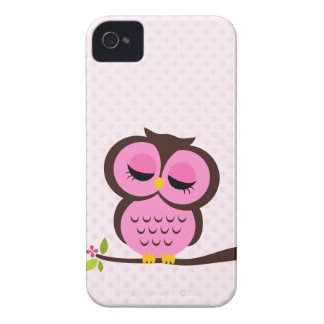 Pretty Pink Owl iPhone 4 Covers